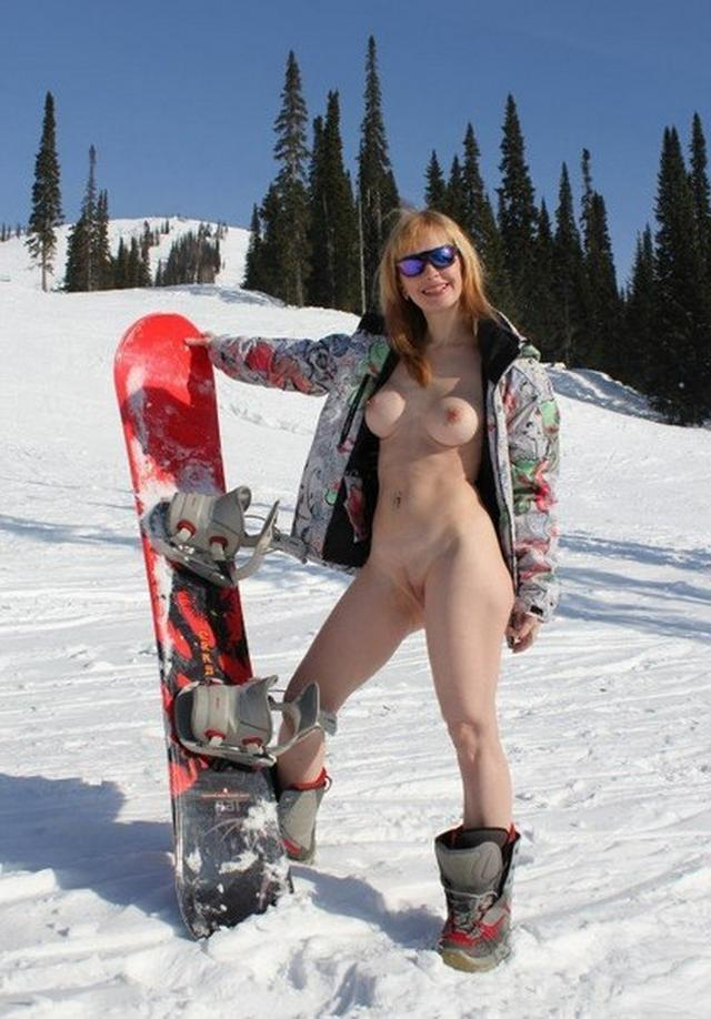 Badass girls snowboarding and deep sea fishing while naked